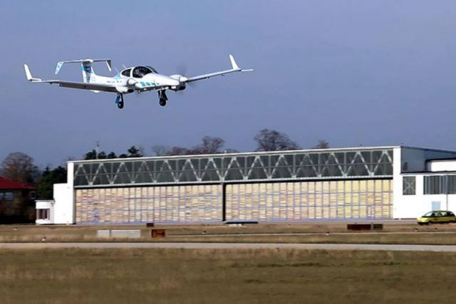 First small aircraft Automatic Landing to small airport