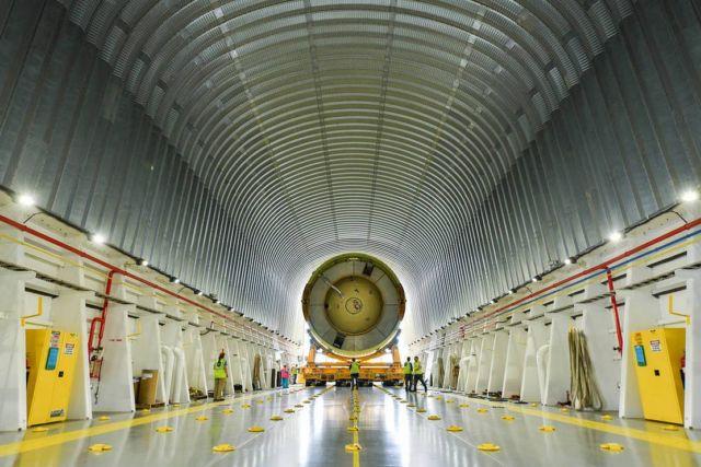 NASA's SLS Rocket Departs Michoud Assembly Facility
