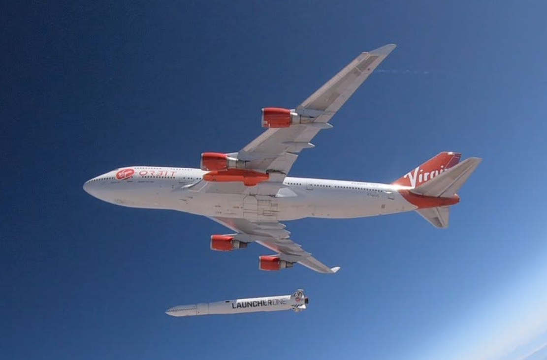 Virgin Orbit released a rocket from airborne 747