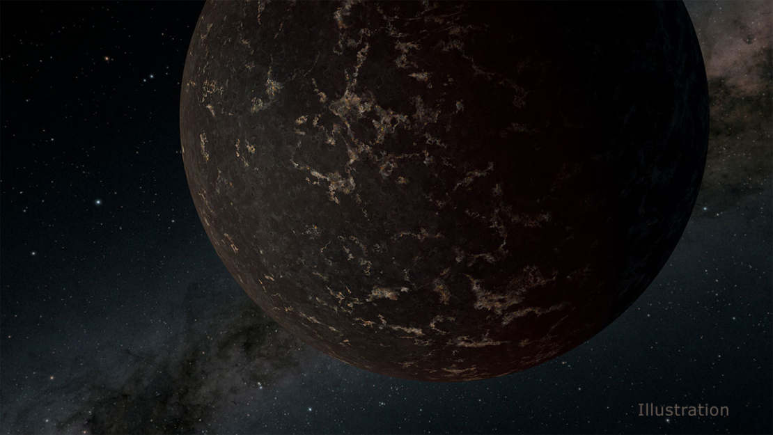 Rocky Exoplanet's Surface