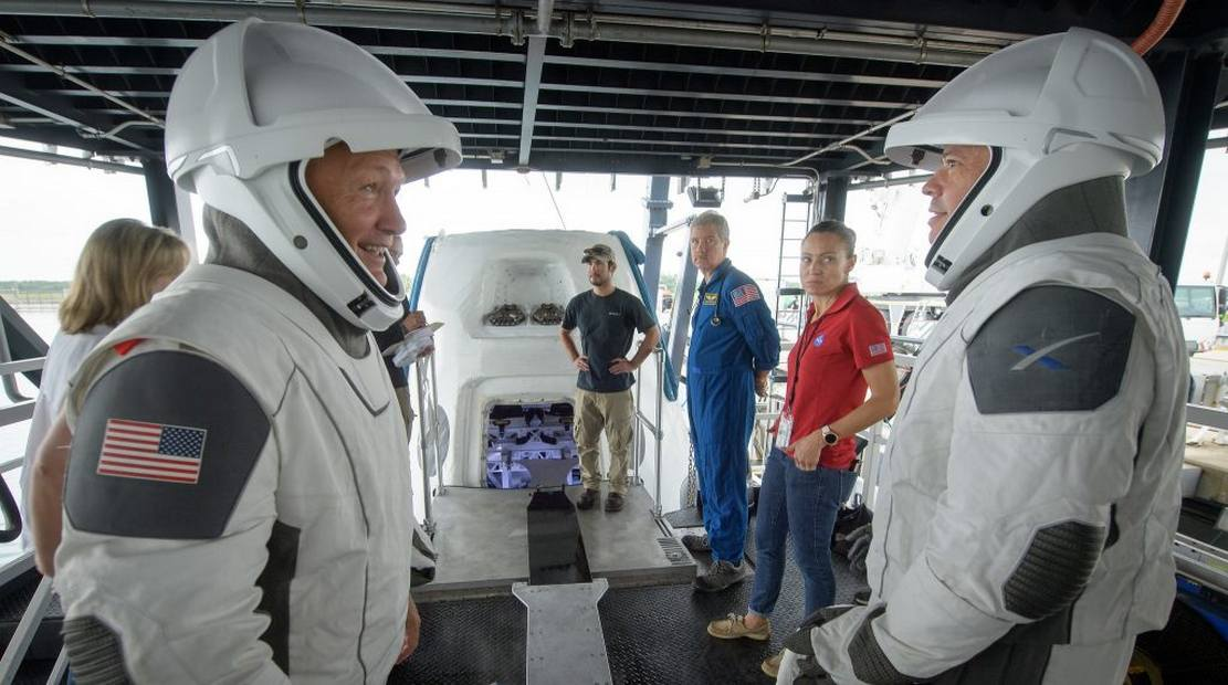 NASA Astronauts test SpaceX Spacesuits