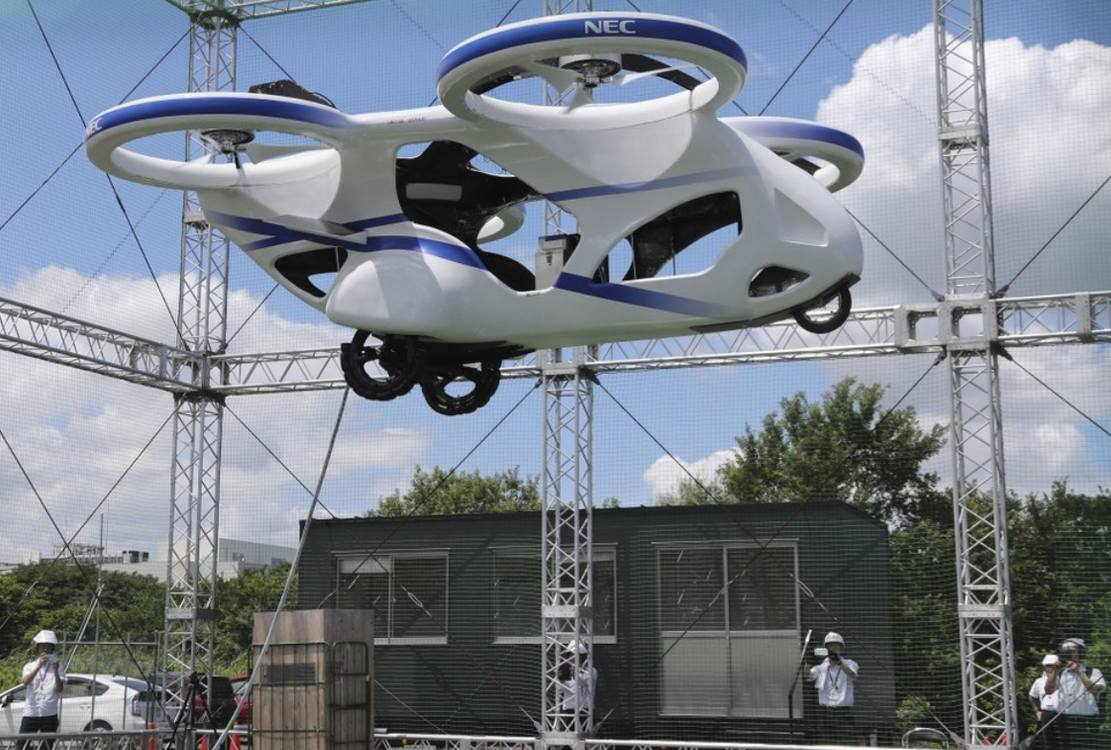 NEC new Flying Car gets off the Ground