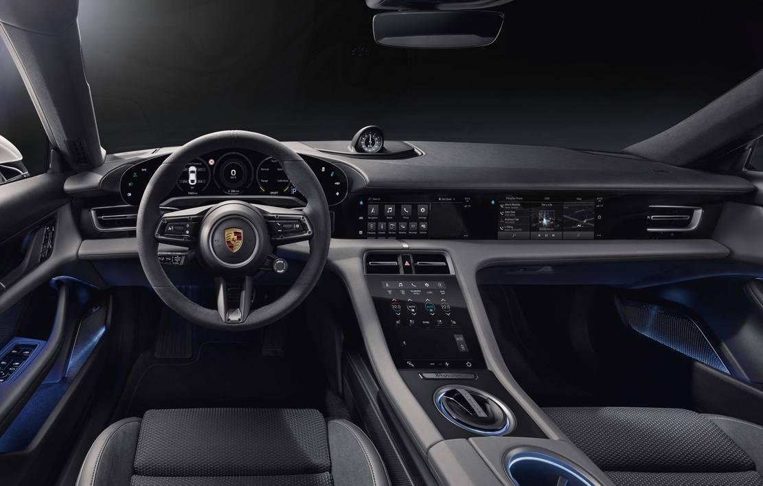 Porsche Taycan EV's infotainment system