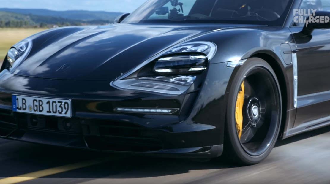 Porsche Taycan first drive testing 0-200kph