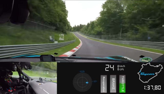 Porsche Taycan sets a record at the Nürburgring