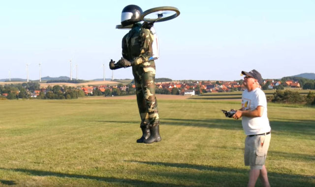RC Flying Man in scale 1:1 Flight Demonstration