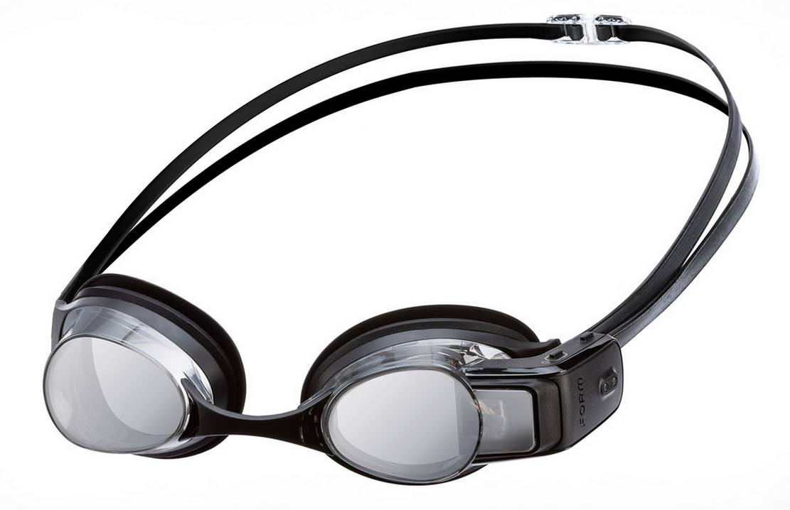 Form Swim goggles with a smart display