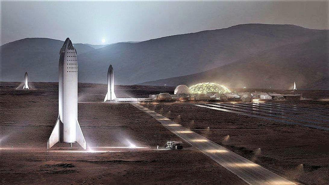 Thousands Solar Reflectors to warm up Mars