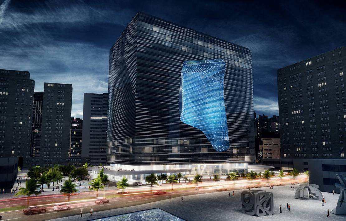 Zaha Hadid's Opus building (1)