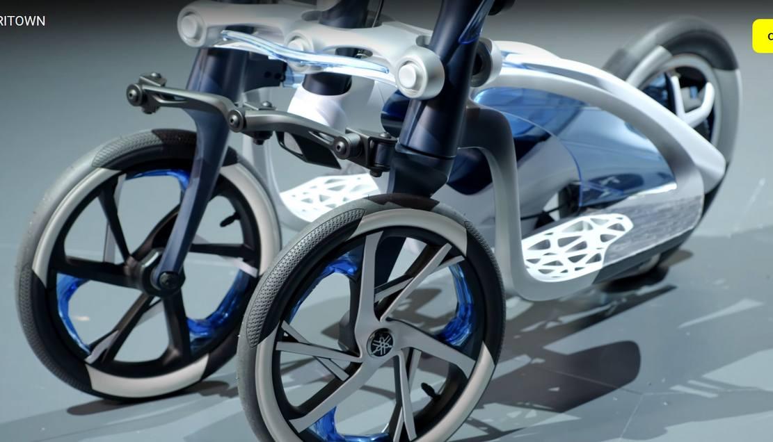 Yamaha Tritown tilting three-wheeler   wordlessTech