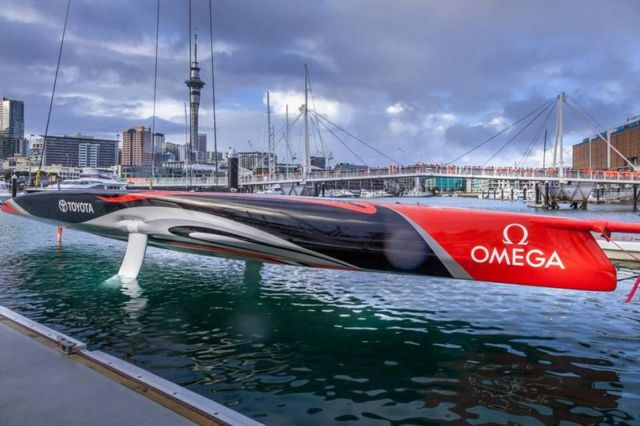 America's Cup Team NZ reveal their new boat (3)