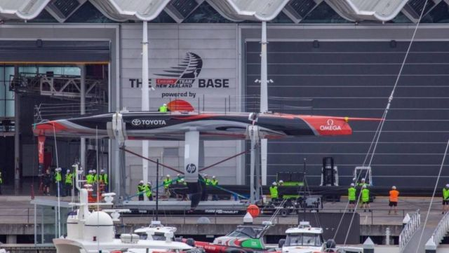 America's Cup Team NZ reveal their new boat (2)