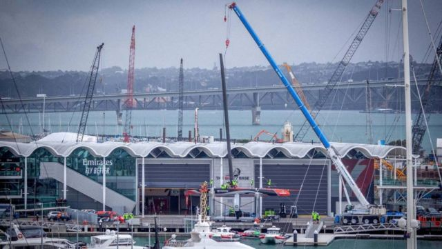 America's Cup Team NZ reveal their new boat (1)