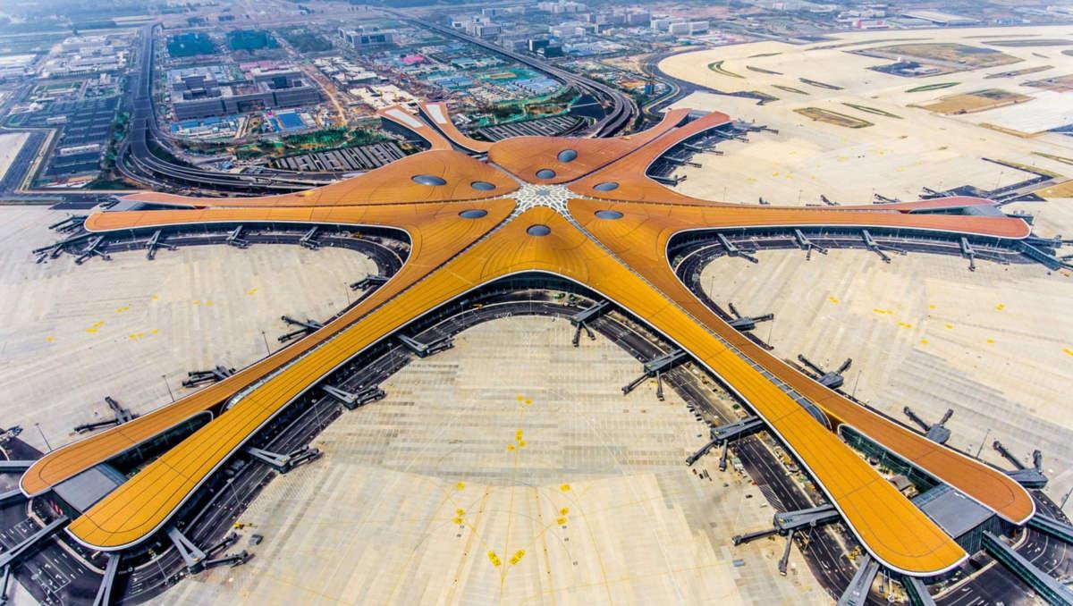 China's huge starfish-shaped Airport opens in Beijing