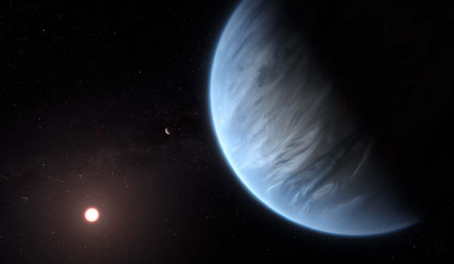 First Exoplanet discovered with Water