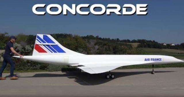 Gigantic 10 Meter Large RC Concorde - Maiden Flight