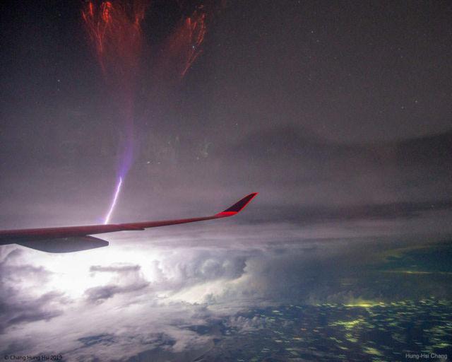 Gigantic Jet Lightning over India