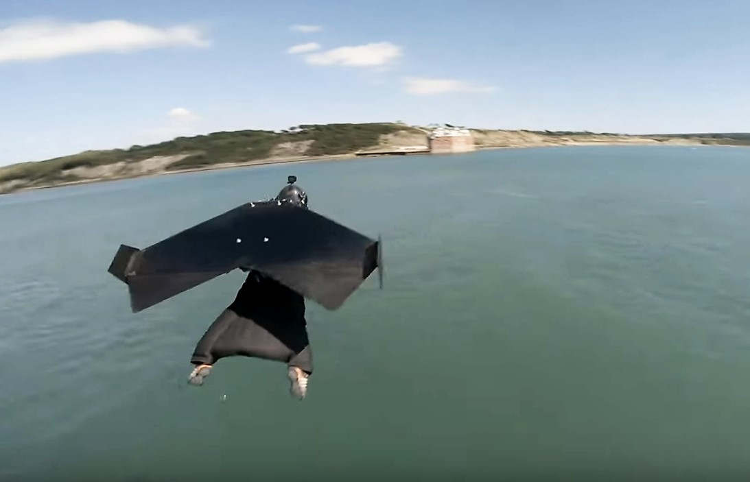 Jet Suit makes history Flight over the Solent