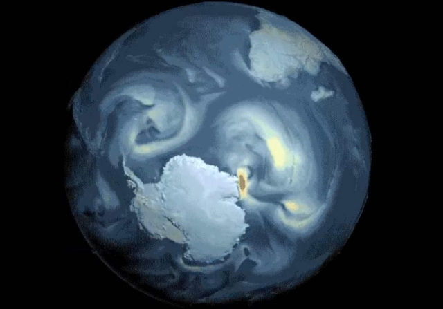 Powerful surface Winds around Antarctica