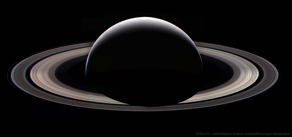 Saturn at Night