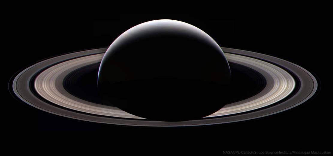Saturn at Night