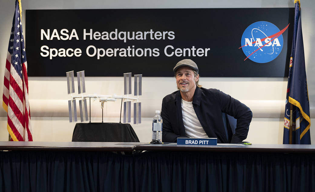Space Station Downlink with actor Brad Pitt