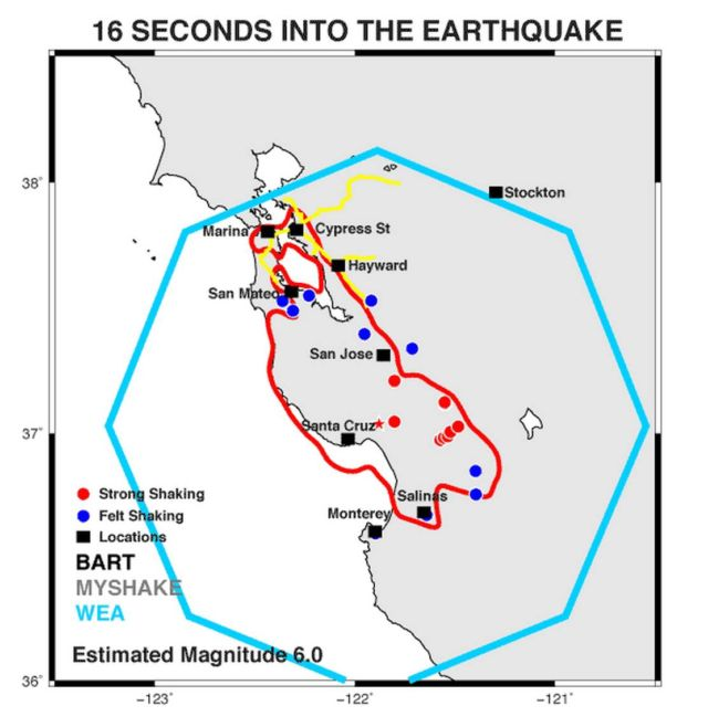 MyShake Earthquake early warning app