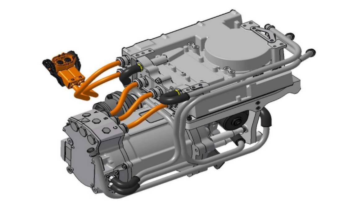 New compact Electric Powertrain to Retrofit old cars
