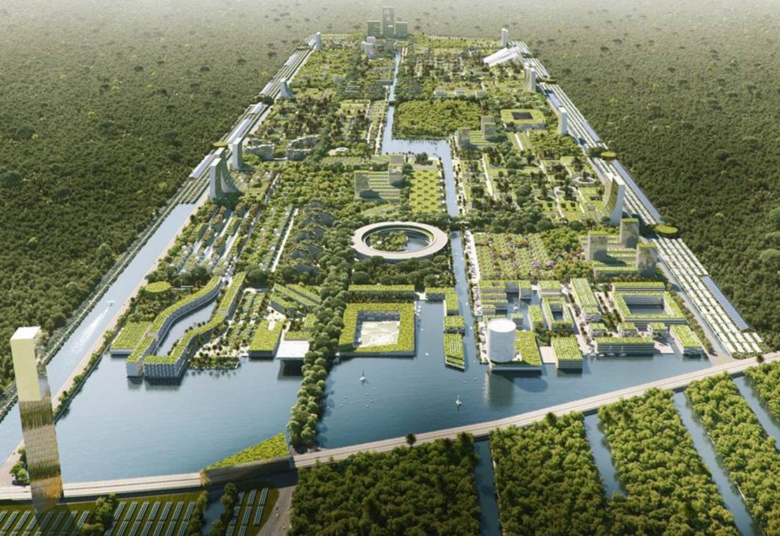 Smart Forest City with 7 million plants