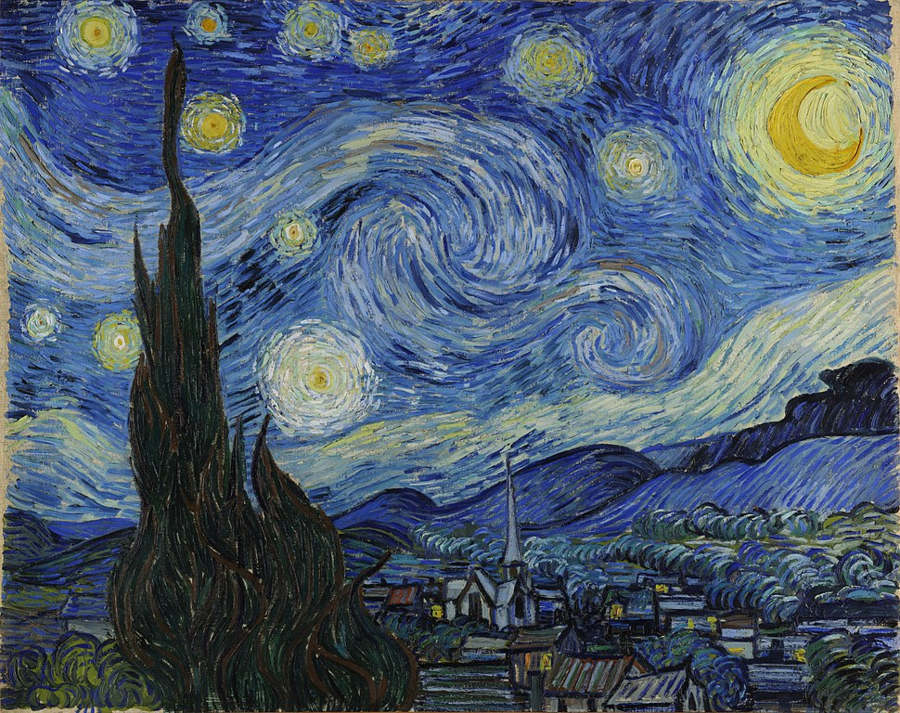 The famous Starry Night by Vincent van Gogh