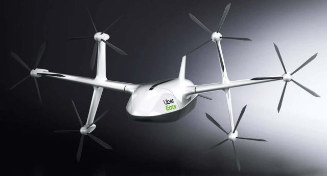 Uber Eats delivery drone