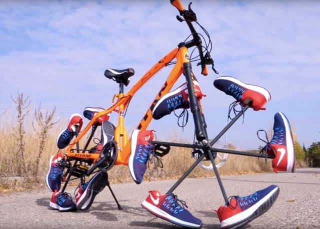 Unique Shoe Bicycle