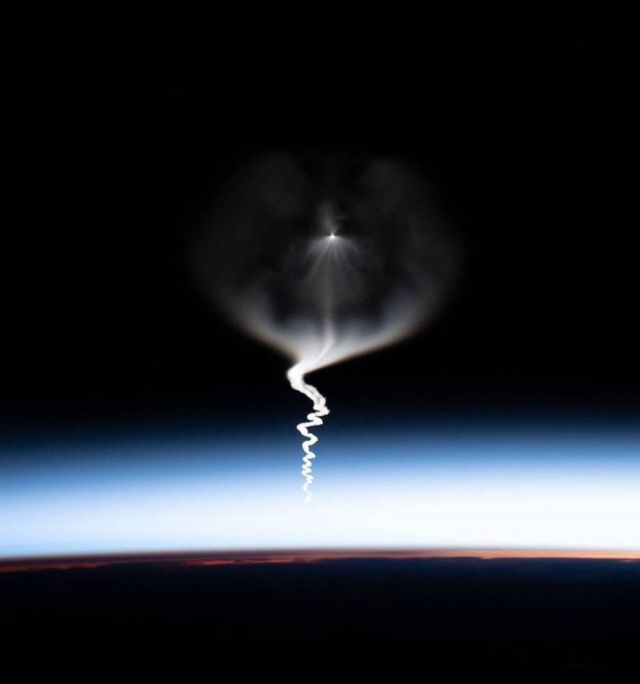 Viewing a Launch from Space