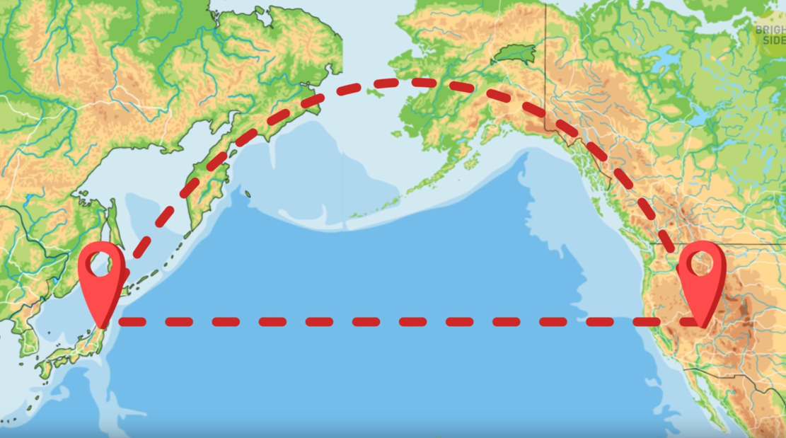 Why Planes don't Fly over the Pacific Ocean