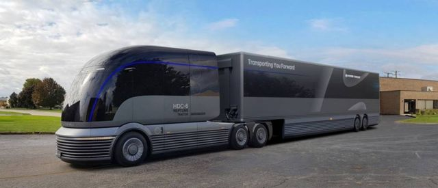 Hyundai Hydrogen-powered Semi-Truck concept