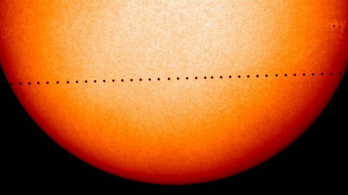 Monday – Mercury will cross the face of the Sun – LIVE
