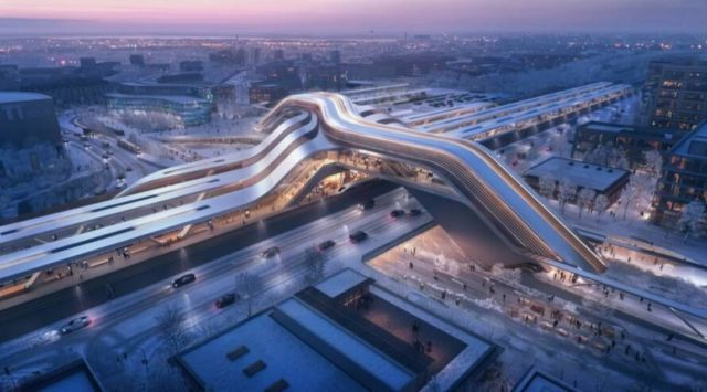 Zaha Hadid's High-Speed Train Station in Tallinn