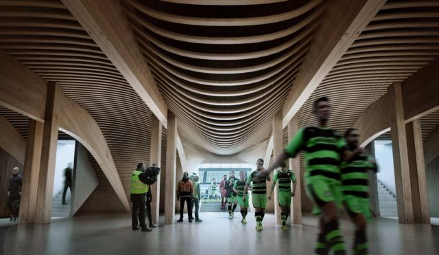 Forest Green Rovers Eco Park wooden stadium (3)