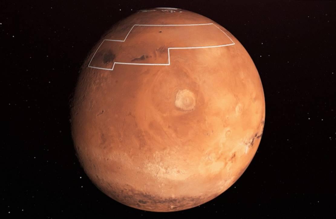 NASA Treasure Map for Water Ice on Mars