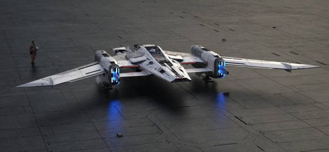 Porsche and Lucasfilm 'Star Wars' spaceship (4)