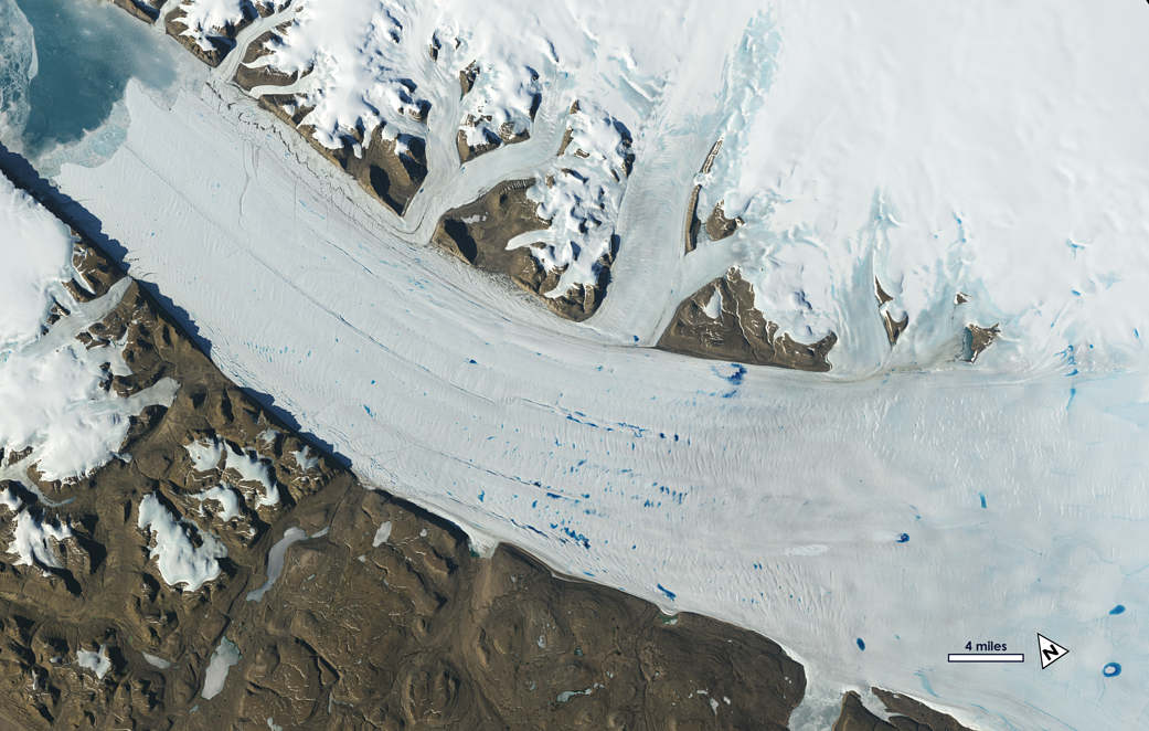 Studding Earth's Changing Ice