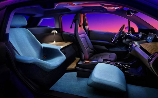 BMW ZeroG Lounger for smart cars