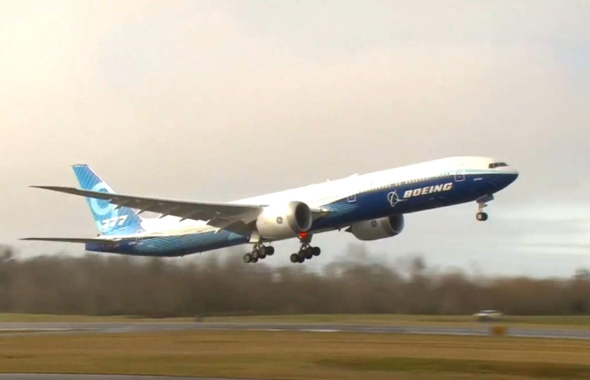 First flight of new Boeing 777X