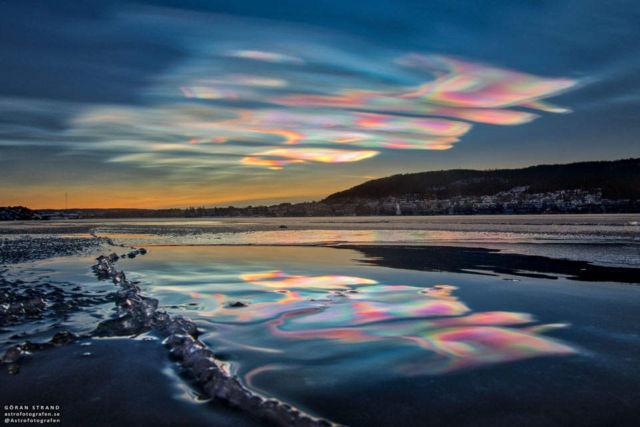 Iridescent Clouds over Sweden