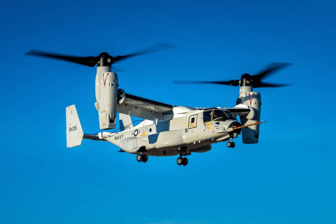 The maiden flight of Boeing CMV-22B Osprey