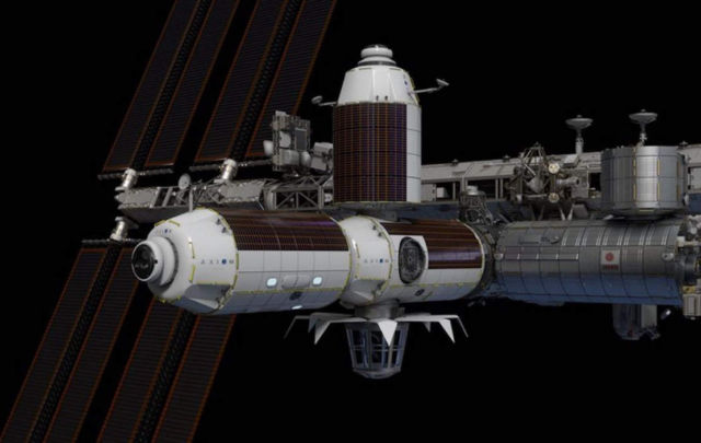 A Space Hotel attached to the ISS