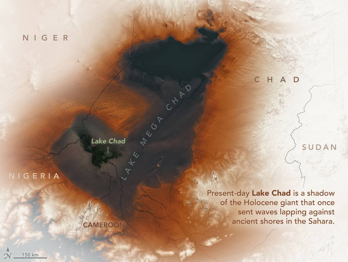 Ancient Lake across the Sahara discovered