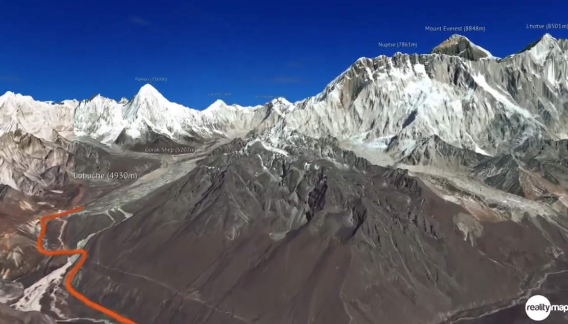 Everest Climbing in 3D