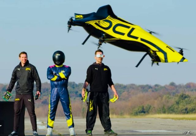 First Manned Aerobatic Racing Drone