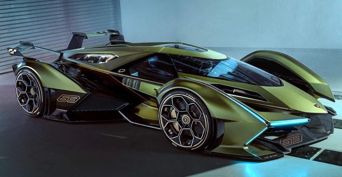 Lambo V12 Vision Gran Turismo at Festival Automobile 2020 in Paris
